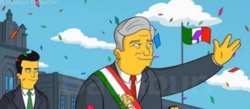 La imagen hace suponer que AMLO aparecería en la nueva temporada de Los Simpson. Foto: Twitter