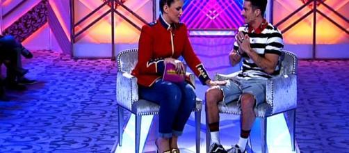 La nueva presentadora y Pelayo díaz