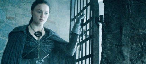 Sophie Tuner caracterizada como Sansa Stark en 'Juego de Tronos'
