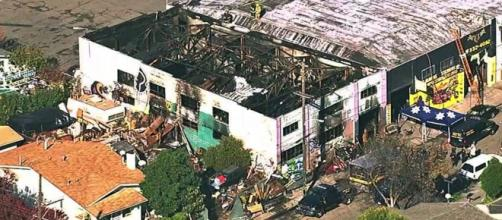 Thirty-six people died Dec. 2 when fire destroyed this Oakland, Calif., warehouse being used as a live/work space by artists. Photo: News-leader.com)
