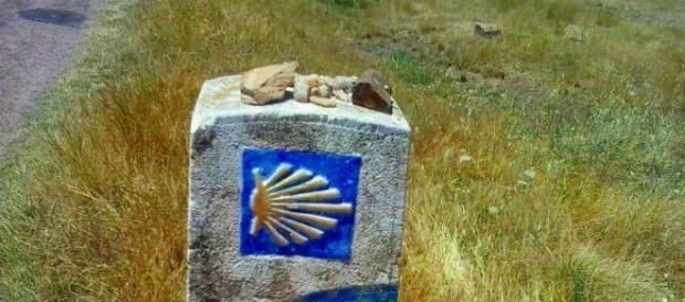 Hito en Mansilla de las Mulas - Camino Francés.