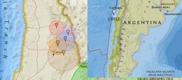 Mapa do tremor (Foto / Reprodução:earthquaketrack.com)