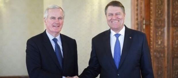 Negociatorul șef al UE pentru Brexit s-a întâlnit cu Președintele României Klaus Johannis - Foto: Twitter/Michel Barnier