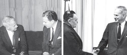 Abraham Lincoln Fordon, principal articulador do Golpe Militar, e os presidentes, respectivamente, João Goulart e Castelo Branco