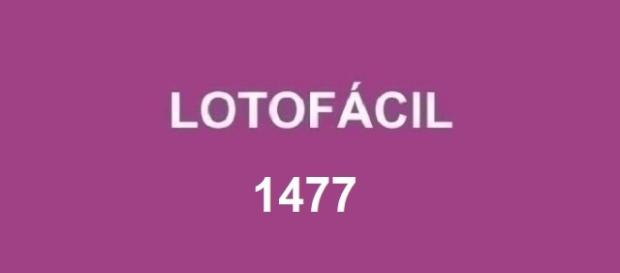 Divulgação do sorteio 1477 da Lotofácil