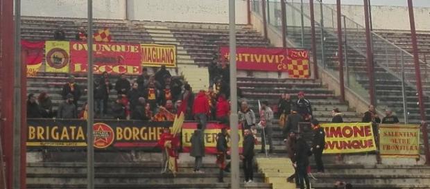 I tifosi giallorossi presenti a Reggio Calabria.