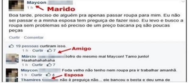 Marido expõe problema nas redes sociais (Foto: reprodução Facebook)