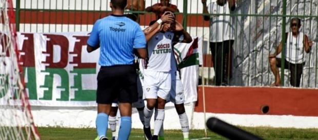 Na sua volta da Seleção Sub-20, Richarlison marca duas vezes e ajuda o Fluminense a fazer 3 a 0 sobre o Volta Redonda pelo Cariocão (Foto: Lancepress)