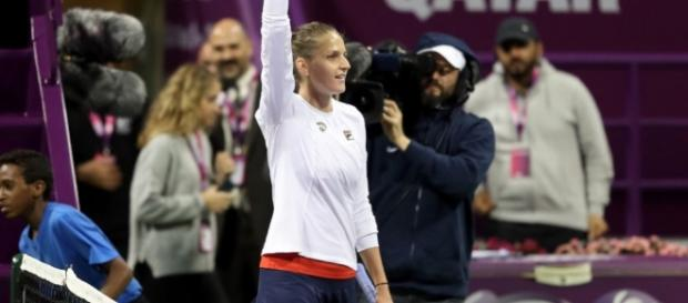 Tennis: Karolina Pliskova beats Wozniacki to secure her second title of the season in Doha. Picture courtesy of leparisien.fr