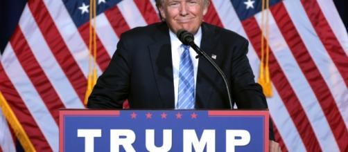 Donald Trump durante un discorso elettorale