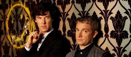 Sherlock e Holmes della serie Tv Sherlock