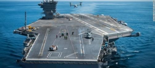 The USS Vincent as it enters the South China Sea http://edition.cnn.com/2017/02/19/us/us-carrier-south-china-sea/index.html