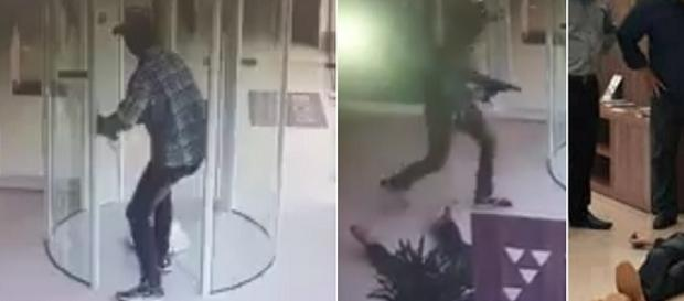 Bandido morreu dentro da agência.