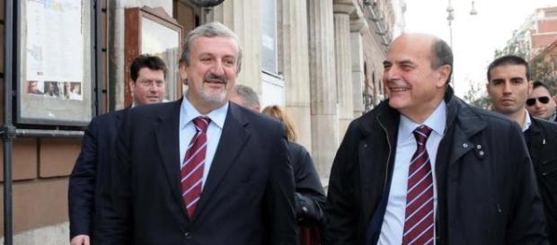 Michele EMiliano e Pierluigi Bersani. Chi resta e chi se ne va dal PD? (Foto: Corriere del Mezzogiorno)
