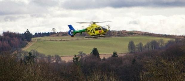 O helicóptero da polícia da Escócia ajudou nas buscas