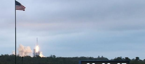 SpaceX Dragon launch on February 19, 2017 from Florida / courtesy of Nasa.gov (public domain)