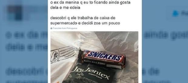 Vingança de internauta incluía comprar preservativo e chocolates.