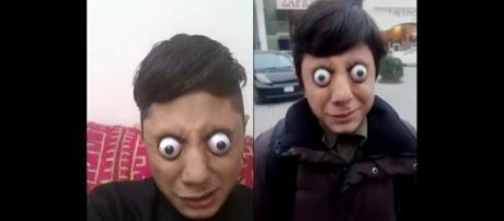 Ahmed Khan consegue projetar seus olhos para fora das órbitas (Crédito: YouTube/CatersClips/BawaToniShah)