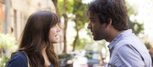 Tiago e Marina brigarão na novela A Lei do Amor
