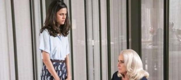 Aline e Magnólia em 'A Lei do Amor' (Divulgação/Globo)