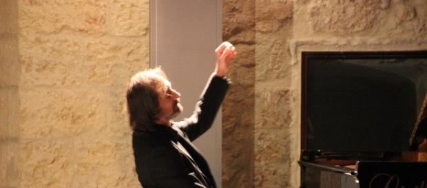 Il maestro Cristiano Burato, ospite dell'Omaggio a Mozart di Tricase nel 2015