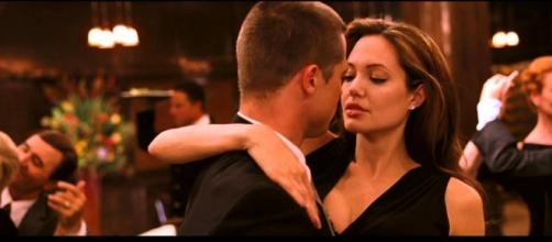 Angelina Jolie e Brad Pitt in Mr e Mrs Smith