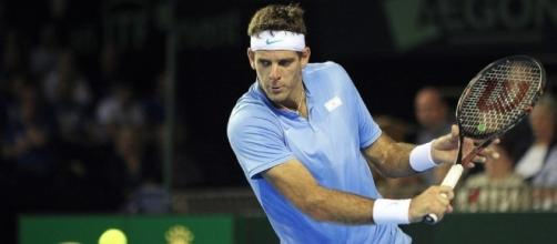 Del Potro during Davis Cup. Juan Martin del Potro guns down Andy Murray to hand Argentina ... - com.au (Taken from BN library)
