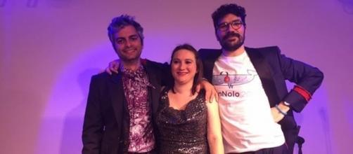 Gli organizzatori di SanNolo. Da sx Maurizio Porcu, Silvia Rudel e Riccardo Poli.