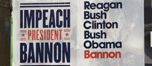 Impeach President Bannon poster. Photo Credit: TheHill.com