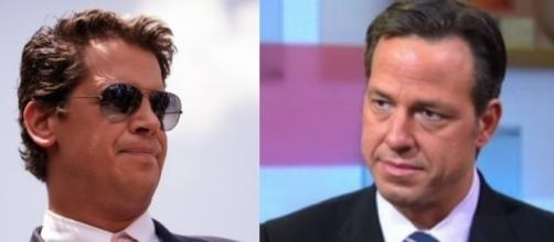 Milo Yiannopoulos and Jake Tapper, via YouTube