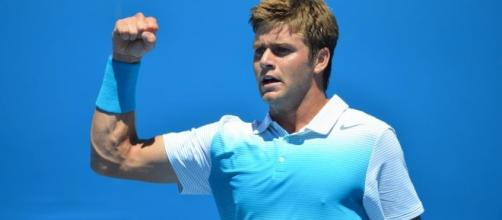Ryan Harrison during a match at the Australian Open. Ryan Harrison - The Grandstand - tenngrand.com (Taken from BN library).
