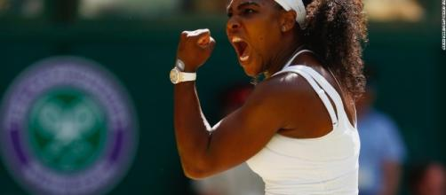 Serena in action at Wimbledon. Serena Williams won't rush back after injury frustration - CNN.com - cnn.com (Taken from BN library)