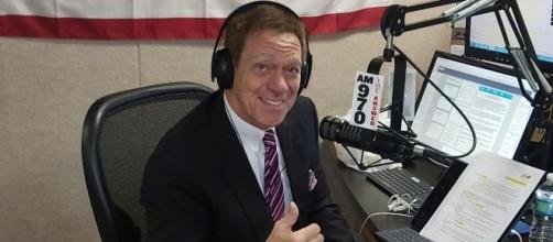 Talk show radio host Joe Piscopo in studio. Photo taken by Ricky Jackson.