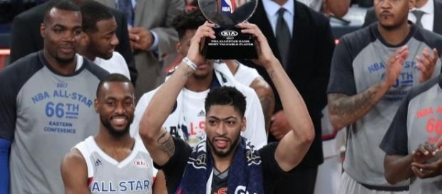 Anthony Davis se proclamó MVP del partido