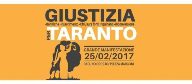 Il corteo è solo il primo evento che il Comitato Giustizia per Taranto ha in programma.