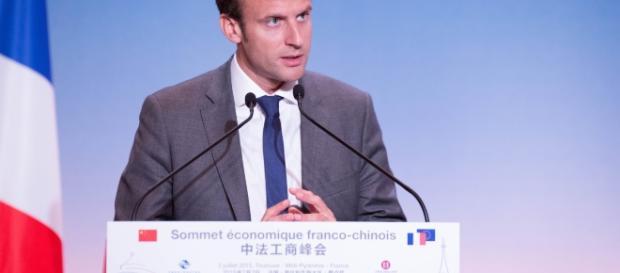 Sommet économique Franco-chinois - Emmanuel Macron - CC BY