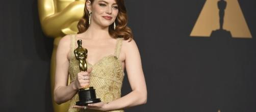 "Emma Stone Best Actress ""La La Land"" wins Oscar at the 89th Academy Awards. / Photo via The Academy of Motion Pictures Arts and Sciences."
