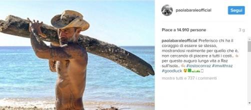 Il messaggio di Paola Barale a Raz Degan - Instagram