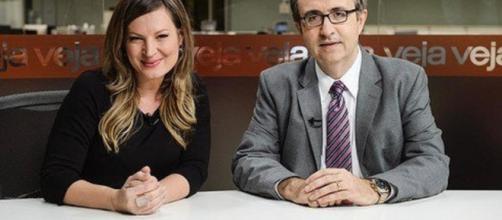 Joice Hasselmann e Reinaldo Azevedo, Foto Reprodução