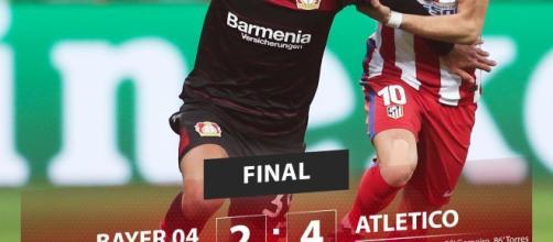 Bayer Leverkusen Atletico Madrid 2-4: SImeone vince e convince, highlights e gol