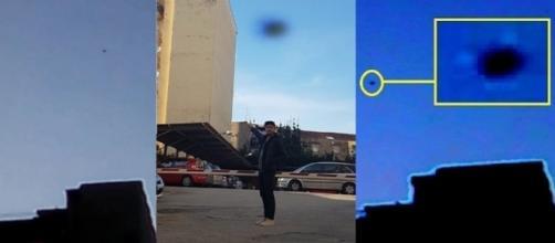 Nell'immagine, realizzata dal Cufom, il testimone e sulla sinistra un frame del video.