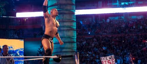 """The Rock returned for the latest """"Raw"""" in Los Angeles, but after the show went off TV. [Image via Flickr Creative Commons]"""