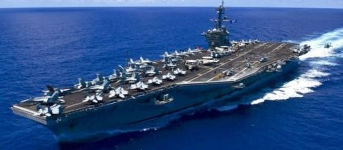 USS Carl Vinson underway in the Pacific Ocean via Wikipedia