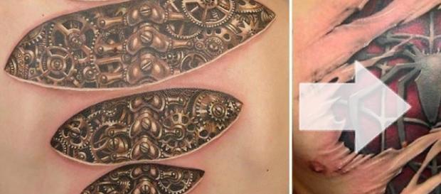 As tatuagens 3D que impressionam por seus detalhes