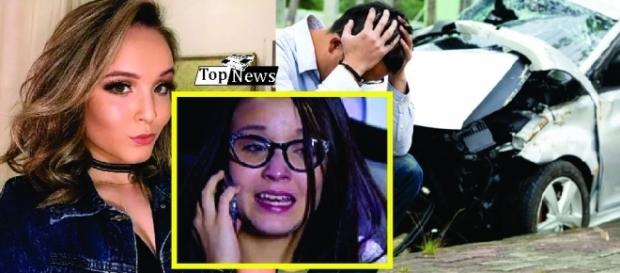 Larissa Manoela precisou cancelar uma entrevista depois de se machucar em um carro.