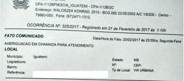 Moradora procurou a PM para registrar boletim de ocorrência