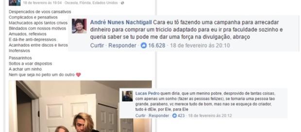 Whindersson Nunes dá exemplo em rede social