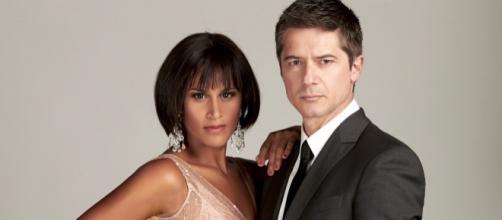 Il bello Ettore Bassi e Karima, nel difficile ruolo di Whitney Houston