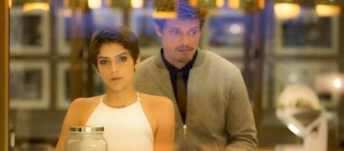 Letícia e Antonio na novela 'A Lei do Amor' (Divulgação/Globo)