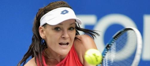 Radwanska hitting a backhand last season. | SBS News - com.au (Taken from BN library)